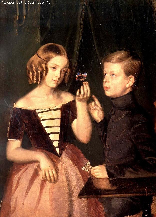 Картина федотова портрет детей
