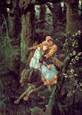Описание картины В. М. Васнецова «Иван-царевич на Сером Волке»