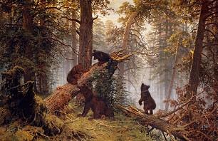 Описание картины И. И. Шишкина «Утро в сосновом лесу»