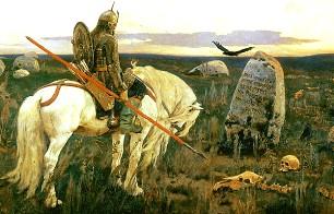 Описание картины В. М. Васнецова «Витязь на распутье»