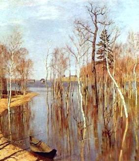 Описание картины И. И. Левитана «Весна. Большая вода»