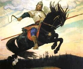 Описание картины В. М. Васнецова «Богатырский скок»