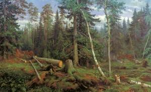 Картина и и шишкина рубка леса одно из