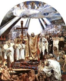 Описание картины В. М. Васнецова «Крещение Руси»